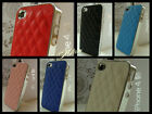 Deluxe Leather With Chrome Side Hard Case Cover Skin For Apple iPhone 4 4S 4G