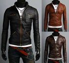 2015NEW ARRIVAL Mens Premium Design Faux Leather Jacket KT08_(3Colour,UK-XS/S/M)