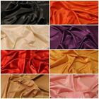 SOILD COLOURED ARTIFICIAL FAUX IMITATION SILK TAFFETA DRESS FABRIC