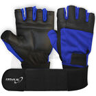 Weight Lifting Gloves Fitness Body Building Gym Training Wrist Straps  S-M-L-XL