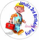 PERSONALISED BIRTHDAY BOB BUILDER STICKERS SEALS GIFTS FAVOURS INVITES KIDCS8