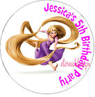 PERSONALISED BIRTHDAY RAPUNZEL STICKERS SEALS GIFT FAVOURS INVITES KIDCS17