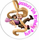 PERSONALISED BIRTHDAY TANGLED STICKERS SEALS GIFT FAVOURS INVITES KIDCS19