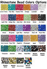 Внешний вид - 1000 Rhinestones Crystal Flat Back Acrylic Faceted 1mm 2mm 3mm 4mm 5mm 7mm 11mm
