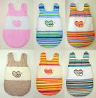 BEAUTIFUL  HEARTS SLEEPING BAG  6-18 MONTHS / 18 DESIGNS