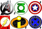 AVENGERS INCREDIBLES FLASH XMEN GREEN LANTERN LOT IRON ON TRANSFER OR STICKER