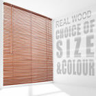 Wooden Venetian Blinds Slats for Home Bedroom Window Shade Colour & Size Choice