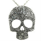 New Fashion Carved Retro Skull Lady Womens Nacklace Long Chain