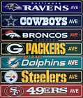 "NFL Football Street Sign Ave 4""x 24"" Pick Team on eBay"