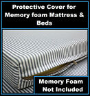 Full Size Protective Zipper Cover For Bed Mattress Memory /Egg Crate Foam Topper