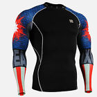 CPD_B37 Compression shirt skin-tight base layer under training gym MMA fitness