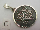 Taxco Mexico 950 Sterling Silver Pentagram (5 Pointed star) Pendant Tops. 10.5g