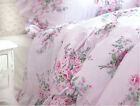King Queen Double Single Shabby Princess Floral Chic Pink Duvet Quilt Cover Set