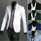 NEW Mens Top design Casual Slim Fit One Button suit Coat Jacket Blazers H957