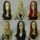 3/4 Wigs Synthetic Heat Resistant Straight/Wavy Cosplay Wigs Free Shipping 94/95