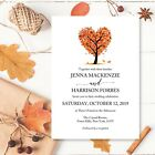 Personalised Wedding Day Evening Invitations Invites + Envelopes Autumn Wedding