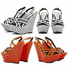 NEW LADIES DOLCIS PLATFORM WEDGES HIGH HEELS POLKA DOT STRAPPY SANDALS SHOES