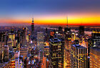 Cityscape Canvas Print Wall Art Premium New York Skyline Sunset Picture Photo A1