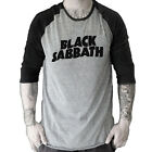 BLACK SABBATH  metal rock Baseball Jersey t-shirt 3/4 sleeve Raglan Tee