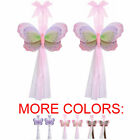 BUTTERFLY TIEBACKS Curtain Sheer Holdback Tie Back Decor Triple Layered 2pc PAIR