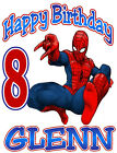 SPIDERMAN BIRTHDAY T-SHIRT Personalized Any Name/Age Toddler to Adult