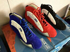 NIB Sparco X-Light Mid Top Suede / Leather Shoes Red Size 45 Nomex