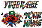 PERSONALISED AVENGERS IRON ON TSHIRT TRANSFER OR STICKER WALL DECO HULK LOT AP