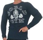 W171 World Gym Long Sleeve Thermal Bodybuilding Shirt