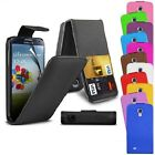 Pu LEATHER SAMSUNG GALAXY S4 i9500 FLIP CASE + FREE SCREEN PROTECTOR