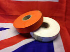 Genuine British Army 38mm Mine/Minefield Marking Tape Full Rolls ORANGE OR WHITE