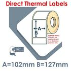 102mm x 127mm WHITE Direct Thermal Labels for Zebra type Printer