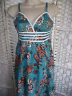 Ex Monsoon Teal Floral Sundress