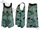 NEW LADIES WOMENS PRINT SLEEVELESS VEST TOP PLUS SIZE 16,18,20,22,24,26,28