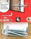 6 Hooks For M5 x 36mm Metal Cavity Wall Fixing Plasterboard Hollow Anchors Plugs