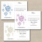 25 x Floral Hearts Wedding A7 RSVP Cards & Envelopes For Invitations Dietary