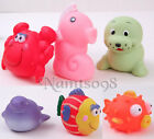 Baby Shower Pool Bath Tub Toy Set Squeak Grasp float /Ocean Animals Pig Dolphin