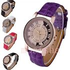 Fashion Womens Girl's Analog Eiffel Tower Quartz Wrist Watch PU Leather Gift New