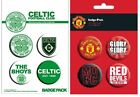 ARSENAL celtic CHELSEA liverpool MANCHESTER CITY united - OFFICIAL BADGE PACK
