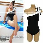 one shoulder off padded sexy lady women swimwear one piece suit bikini 3 sizes