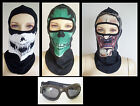 Balaclava Bike Mask or Goggles Assorted Styles Colours GP Superbike Motocross