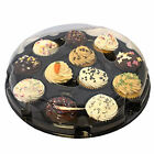 12 Cupcake boxes / Plastic platters with dome lids