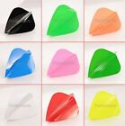10 x SETS POLY PLAIN DART FLIGHTS - Choose from 11 Colours - Kite Shape