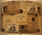 French Chateau Wine Labels Lampshade / Ceiling Light / Pendant NEW !!!