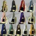 All Color 28 inch Long Straight Hair 70cm Heat Resistant Long Bangs Cosplay Wig