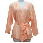 100% Washable Silk Tie Front Blouse - Size Small - In 3 Colors