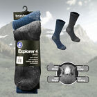Brasher Explorer 4 Season Hiking Walking Wool Socks (2 Pairs Per Pack) - New