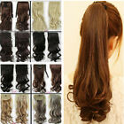 Clip In Pony Tail Hair Extension Wrap Around Ponytail Hair Extension For Human