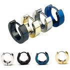 1 Pair Mens Boys Cool Rock Stainless Steel Arch Earring Studs Hoop Jewelry B62U