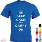 T-Shirt Keep Calm and CARRY ON Maglietta Uomo-Donna Bianca-Colorata