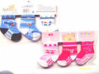 baby boy and girl triple pack socks